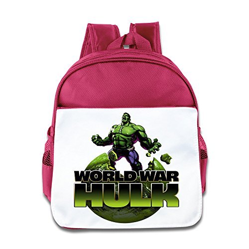 The Incredible Hulk Kids Backpack Boys Girls School Bag Two Colors Pink Blue  Pink
