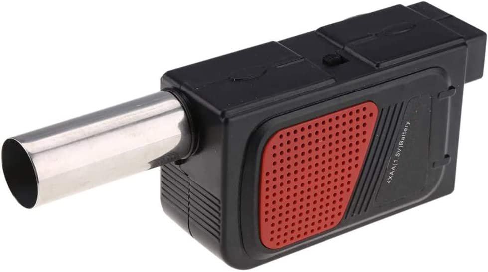 Parrilla de barbacoa eléctrica del ventilador portátil del ventilador del aire/fuego, cocinar para acampar al aire libre herramienta de picnic barbacoa,Negro