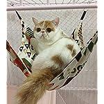 Margelo Pet Cage Hammock, Cat Ferret Hammock Bed for Bunny/Rabbit/Rat/Small Animals 11