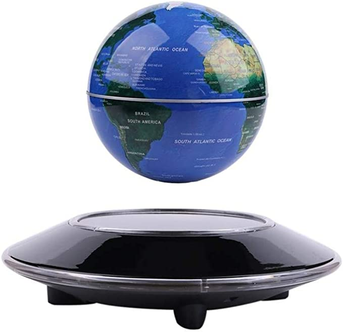 Wowesotica Magnetic Levitating Globe with LED Light Floating World Map Galaxy High Tech Gift and Birthday Gifts Floating Globes World Desk Gadget Decor in Office Home//Display Frame Stand