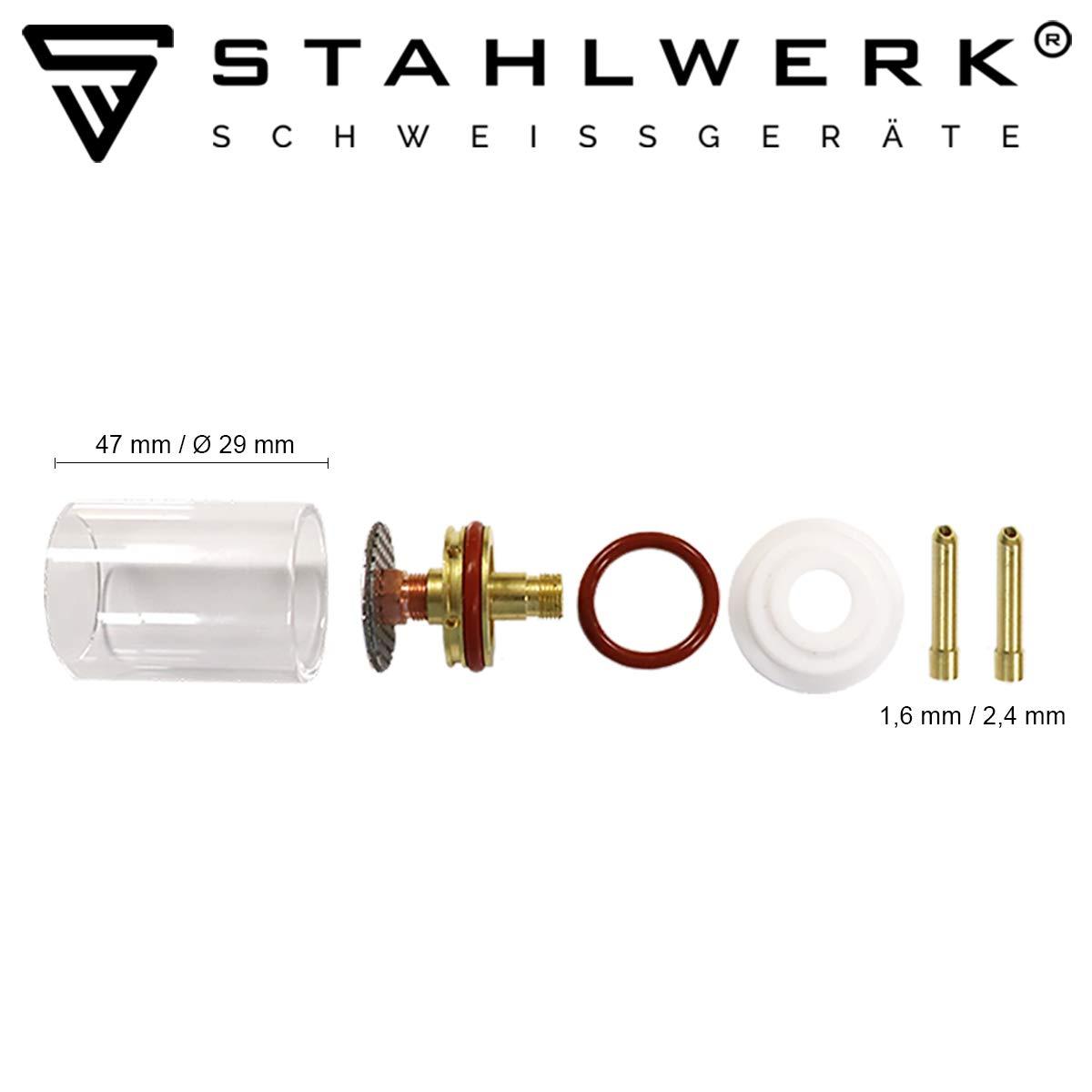 STAHLWERK TIG glas gas lens welding accessories for WP SR Binzel 17 18 26 TIG welding torch 7 pieces