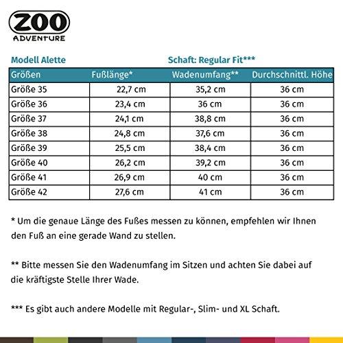 Zoo Adventure - Alette - Stivali Esterni Impermeabili E Stivali Invernali In Pelle Per Donna Nero 001