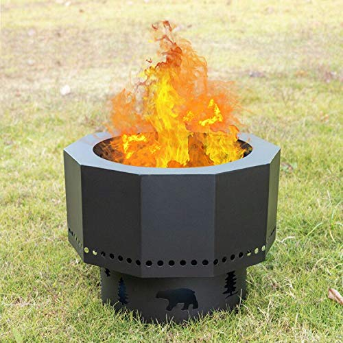 Smokeless Bonfire Pit Wood Burning Fire Pits for Outside Portable Fire Pit  for Camping with Carry Bag: Amazon.in: Garden & Outdoors