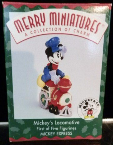 1 X Mickey's Locomotive Figurine From the Mickey's Express - 1998 Mickey & Co. Merry Miniatures - Christmas L And G Barn