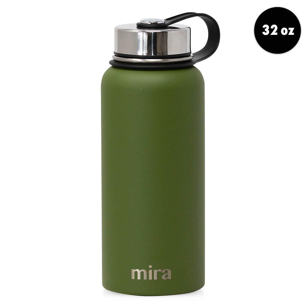 Mira Botella de Agua de Acero Inoxidable con Aislamiento al ...