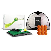 OptiShot 2 Home Simulator Bundle   Includes Callaway 7-foot Hitting Net & 18 HX Practice Balls by Dancin' Dogg
