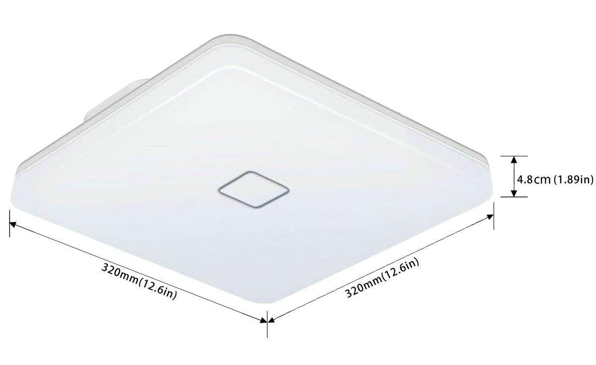 Öuesen Lámpara de techo LED 24W IP44 2050lm Plafón LED Moderno Blanco Cálido 3000K para Pasillo Salón Cocina Dormitorio Baños: Amazon.es: Iluminación