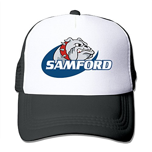 (CCbros Samford University Bulldogs Running Mesh Back Hat Caps One Size Fit All Black)