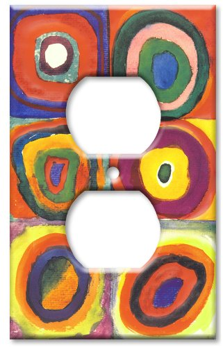 Art Plates (Art Plates / Outlet Cover Switch Plate / Kandinsky: Farbstudie)