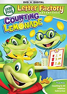 leapfrog letter factory adventures counting on lemonade dvd