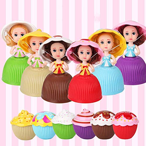 (Mini Beautiful Cake Doll Toy Surprise Cupcake Princess Doll Toys for Children Kid Transformed Scented Girls Funny Game Gift (12PCS))