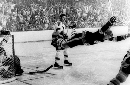 - Peel-n-Stick Poster of Bobby Orr The Flying Goal Art Hockey Greats NHL S Vivid Imagery Poster 24 x 16 Adhesive Sticker Poster Print