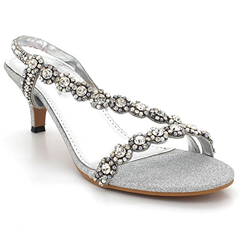 Tacco Prom London Strass Party Scarpe Donna Open Medio Sandali Da Aarz Evening Sposa Toe Wedding Argento Taglia Diamante 8wx7qBdA
