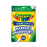 Crayola 12 Washable Fine Line Markers, Original, Adult Colouring, Bullet Journaling, School and Craft Supplies, Drawing Gift for Boys and Girls, Kids, Teens Ages 5, 6,7, 8 and Up, Back to school, School supplies, Arts and Crafts,  Gifting