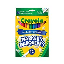 Crayola 12 Washable Fine Line Markers, Original, Adult Colouring, Bullet Journaling, School and Craft Supplies, Drawing Gift for Boys and Girls, Kids, Teens Ages  5, 6,7, 8 and Up, Holiday Toys, Stocking Stuffers, Arts and Crafts