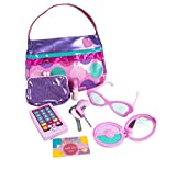 #2: Play Circle by Battat Princess Purse Set – 8-piece Kids Play Purse and Accessories – Pretend Play Purse Set Toy with Pretend Makeup For Kids Age 3 Years and Up