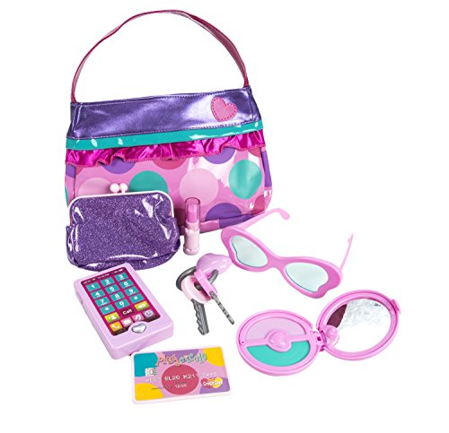 Play Circle Purse Set Pretend Play for Kids (Play Purse)