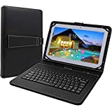 Tagital 10.1 inch Android 6.0 Quad Core Tablet Dual SIM Cell Phone Tablet PC, 1280 x 800 IPS Screen, Dual Camera, Unlocked GSM, 2G/3G Phablet Bundled Keyboard