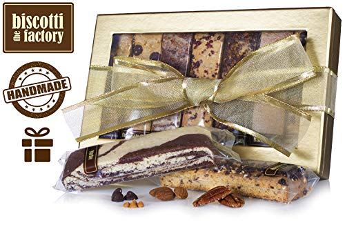 Gift Classic Cookie Gourmet Basket - The Biscotti Factory, Combo Variety Pack, Biscotti Gift Box, Individually Wrapped Biscottis, Hand Crafted, Mother's Day Gifts, Kosher Gift Baskets, Certified Kosher, No Added Preservatives (Classic)