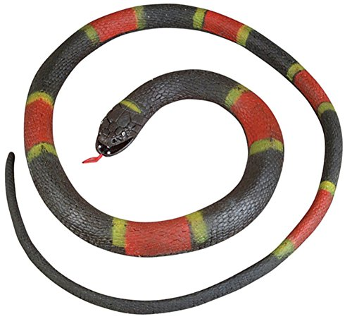 New Rubber 6 Feet Black Red Striped Prop - Striped Snake Shopping Results