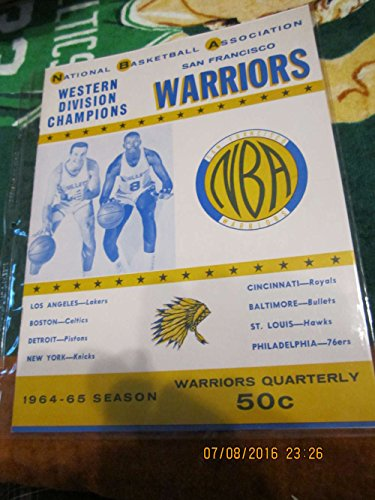 (1964 NBA Warriors vs Bullets Basketball Program amp; 2 ticket Wilt chamberlain)