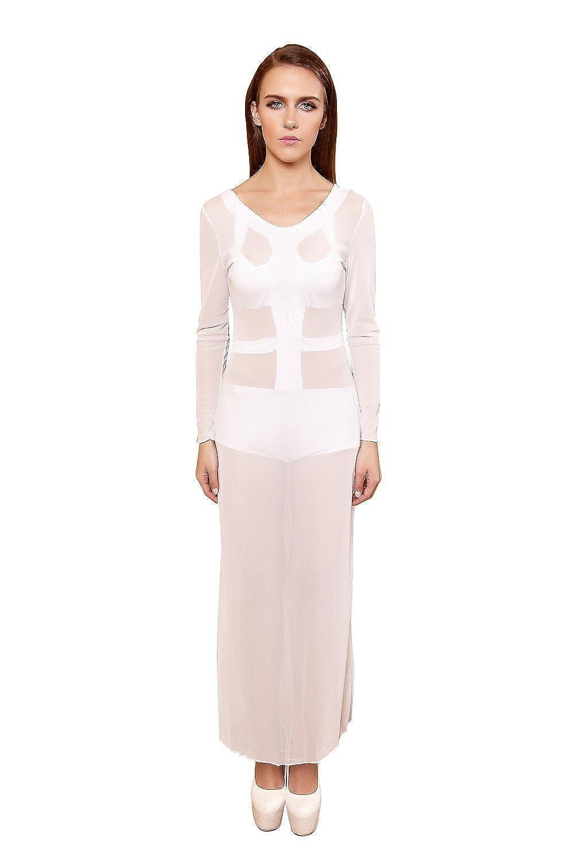 YiYiFS® Frauen schließen Nachtwäsche Nachtclub über Knie Ärmelloses Kleid ED108