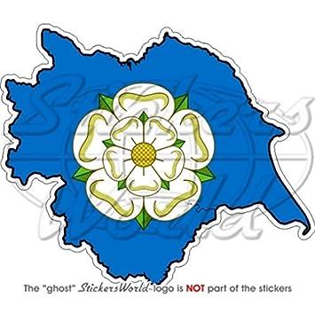 Map Of England Showing Yorkshire.Yorkshire County Map Flag White Rose Of York England Uk British 4 3