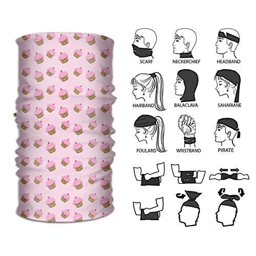 Lambert Leon Unisex Variety Head Scarf Scarves Face Masks Headband Cap Headwear Bandanas Sport Pink Cupcakes Wallpaper Headband Bandana ()