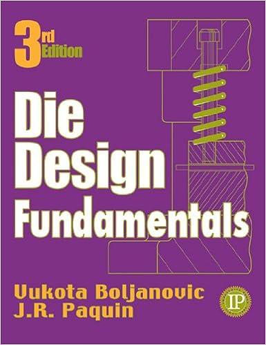 Die Design Fundamentals 3rd Edition by Vukota Boljanovic  PDF Download