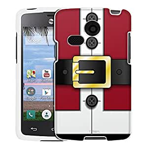 LG Lucky Case, Snap On Cover by Trek Red Santa Suit with Buttons Case