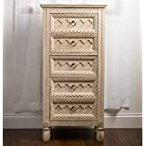 "Hives and Honey ""DAISY Jewelry Armoire, Ivory"