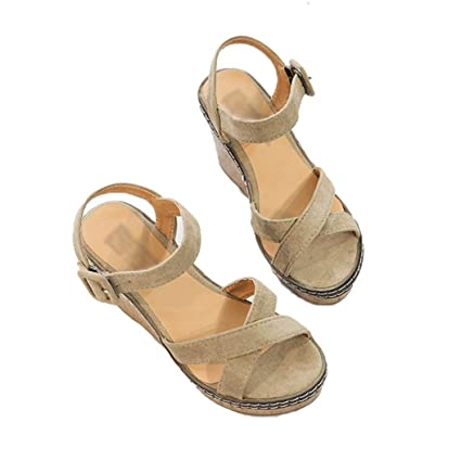 9e89b154ed3f Image Unavailable. Image not available for. Color  Kyle Walsh Pa Women  Sandals Platform Sandals Wedges Shoes Sandalias Mujer Summer ...