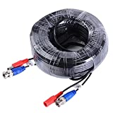 ANNKE (1) 18M / 60 Feet BNC Video Power Cable, Special Design For HD CCTV Camera DVR Security System(Black)