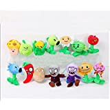 Plants Vs Zombies Toys Plush Toys With Sucking Disc Small Size 14 Pcs