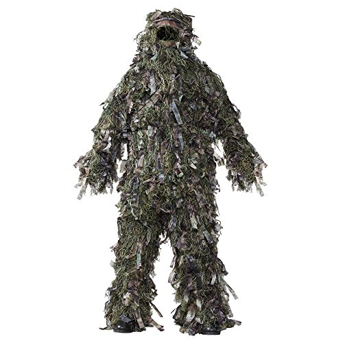 HOT SHOT Men's Deluxe Ghillie Suit, Natural Blind Green, X-Large/XX-Large