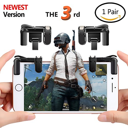 (Upgraded Version)Mobile Game Controller , Ta King Game Controller with Sensitive Shoot and Aim Buttons L1R1 for PUBG/Knives Out/Rules of Survival, Cell Phone Game Controller for iPhone Android(1 Pair