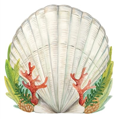 Hester and Cook Die-Cut Shell Paper Placemat Sheets by Hester and Cook
