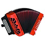 Hohner Button Accordion Compadre FBbEb, With Gig Bag And Straps, Orange