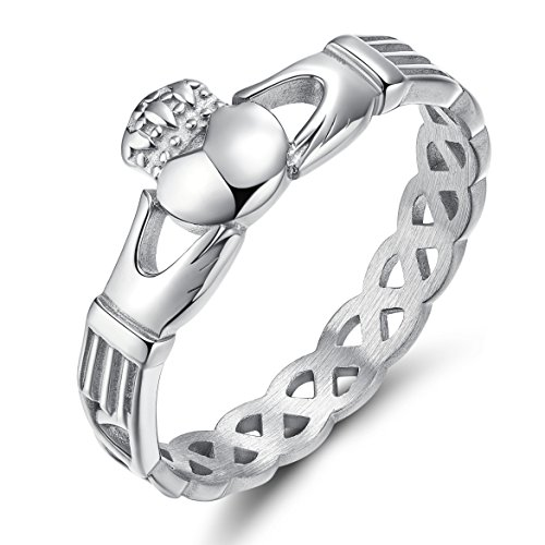 Heart Knot Wedding Band Ring - 4