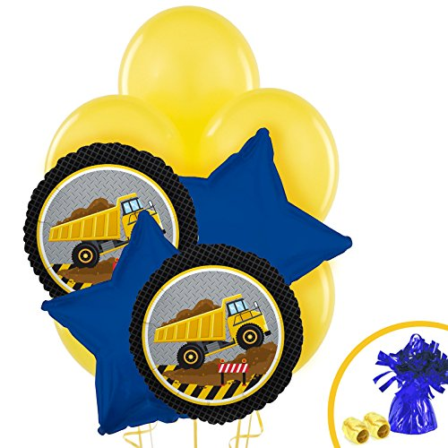 BirthdayExpress Construction Party Decorations - Balloon Bouquet -