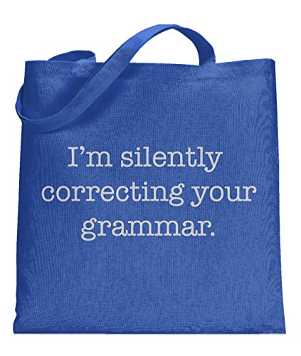 Price comparison product image e Bag Silently Correcting Your Grammar Funny Totes Nerdy Sarcastic Bag -standard