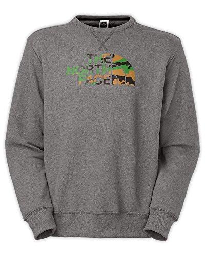 The North Face Men's Half Dome Fleece Crew Neck Tee Charcoal Grey Heather / Green Camo ()