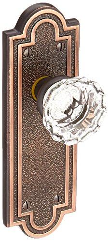 Pair Knob Emtek Crystal Dummy (Belmont Plate Set With Astoria Crystal Door Knobs Dummy Oil-Rubbed Bronze. Old Door Knobs.)