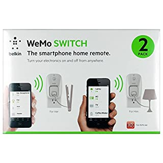 Wemo 2-Pack Switch, Wi-Fi Smart Plug, Control Lights and Appliances From Your Phone (B00JT5HKZA) | Amazon price tracker / tracking, Amazon price history charts, Amazon price watches, Amazon price drop alerts