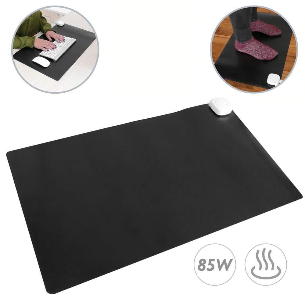 PrimeMatik - Heizteppich Thermisches Heizmatte Beheizter Teppich Pad-Schreibtisch 60x36cm 85W schwarz PrimeMatik.com