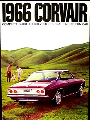 A BEAUTIFUL 1966 CHEVY CORVAIR DEALERS FULL-COLOR SALES BROCHURE - INCLUDES Monza Sport Coupe, 500 Sport Coupe & Convertible