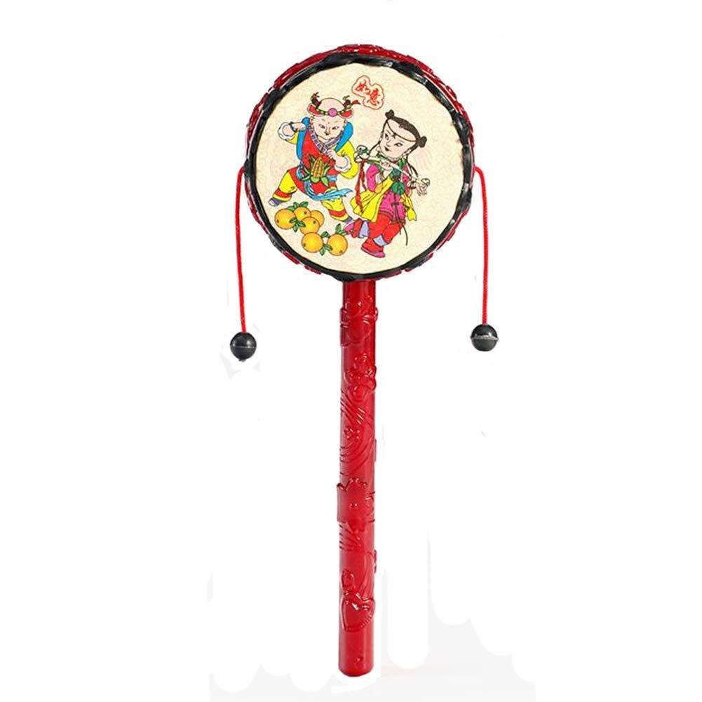 NOQ drum-shaped Rattle /手ドラム/子供の教育玩具   B01G6TLD9K
