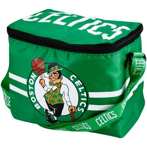 Boston Celtics Lunch Bag: 6 Pack Zipper Cooler by Forever Collectibles