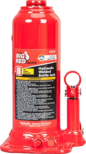 Torin Big Red Hydraulic Bottle Jack, 8 Ton Capacity by Torin (Image #1)