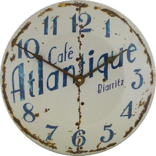 Roger Lascelles Large Enamel Atlantique French Clock, 13.8-Inch For Sale